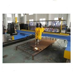 4000mm Gantry Jenis CNC Plasma Cutting Machine dengan memotong vertikal dan horisontal